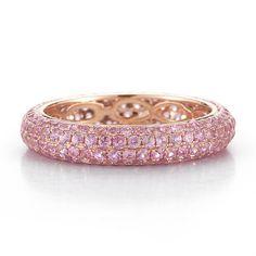 Pink Sapphire Ring in Rose Gold   Dana Rebecca Designs