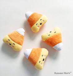 Halloween Candy Corn Plush, Stuffed Candy Corn, Halloween Toys, Kawaii Plush