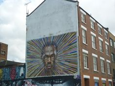 Street art... slight resemblance of Usain Bolt, or just me?