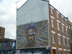 Street art... slight resemblance of Usain Bolt, or just me?