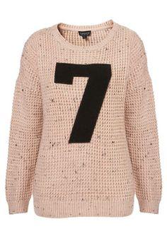 Knitted 7 Motif Jumper (my lucky #)