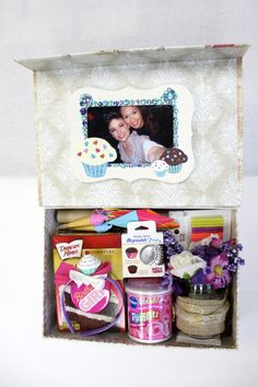 DIY | Birthday In A Box: The Cupcake Baking Kit A few weeks ago one of my best friends celebrated her birthday out of town. I wanted to make her a gift that would not only say, 'I Love You!' but make her feel like I was there to celebrate with her. After searching Pinterest for inspiration I decided to create this 'birthday in a box' for her with a delicious twist to it. Knowing how much my best friend loves Red Velvet cupcakes, I decided to include the basic ingredients to make her own...