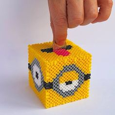 Minion piggy bank hama beads by Jenny Martinez-O.