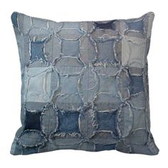 Checkered Denim Pillow
