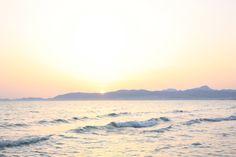 Romantische Abendstimmung an der Playa de Palma, Mallorca.