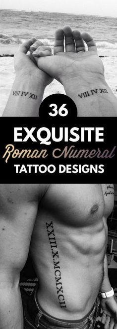 36 Exquisite Roman Numeral Tattoos Designs | TattooBlend