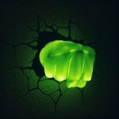 3D Hulk Fist Nightlight - I want one I want one!