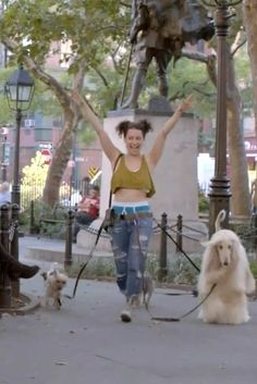 """""""This is Ilana's Riri Look. That avocado-green crop top, we cropped it even more to make it extremely inappropriate. We paired it with baggy jeans and boys underwear from American Apparel."""" - In Praise of Broad City Ilana's Style -- The Cut Broad City, Green Crop Top, Boys Underwear, Summer Essentials, Girl Crushes, Best Shows Ever, Pretty Cool, Film, Warm Weather"""