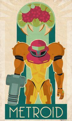 """Caution: Metroid Is On The Loose!"" by Fluffy Pancakes ""Part of a Balanced Energy Consumption"" by Daniel Bressette ""Metroid"" by Thiag. Metroid Samus, Samus Aran, Metroid Prime, Retro Video Games, Video Game Art, Super Metroid Snes, Cyberpunk, Aliens, Fiction"