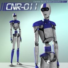 CNR_011: Capable Neural Robot Generation 11  Slang name: Canner    The CNR_011 is a original figure 3d model fully rigged for use in Poser or DAZ Studio. This model is highly detailed and has complete pose capabilities.    This Product Includes:  CNR_011 figure model - fully rigged for complete pose capabilities  Four poses  Highly detailed texture and bump maps  http://www.yurdigital.com/catalog/3328-cnr-011