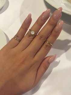 Just got new nails yesterday. Almond shaped acrylic extensions.