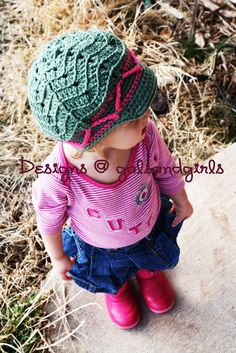 crochet zig zag hat directions... think we can make it bigger?? lol @Donnamarie Mccabe