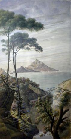"""""""Capri"""", décor imprimé sur papier intissé  Ananbô"""