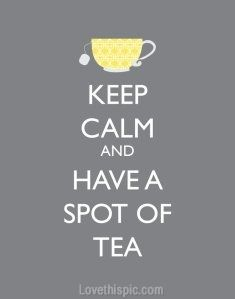 Because you can't go to bed without a cup of tea maybe that's the reason that you talk in your sleep