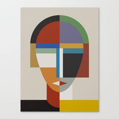 Women And Woman Art Print by The Usual Designers - X-Small Geometric Face, Abstract Geometric Art, Abstract Faces, Geometric Shapes, Geometric Designs, Abstract Portrait, Grafik Art, Cubism Art, Canvas Prints