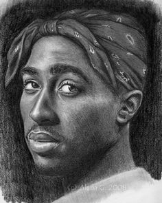Tupac by wildestdreamz on DeviantArt Cool Sketches, Drawing Sketches, 2pac Tattoos, Face Drawing Reference, Tupac Art, Tupac Makaveli, History Tattoos, Graphite Art, Hip Hop Art
