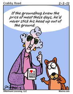 maxine on Groundhog Day   happy groundhog day