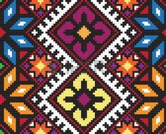Vector Ukrainian ethnic seamless ornament - buy this vector on Shutterstock & find other images. Tapestry Crochet Patterns, Loom Patterns, Beading Patterns, Cross Stitch Designs, Cross Stitch Patterns, Cross Stitching, Cross Stitch Embroidery, Native American Patterns, Crochet Purses