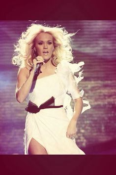 Awesome picture from when Carrie performed Blown Away on American Idol
