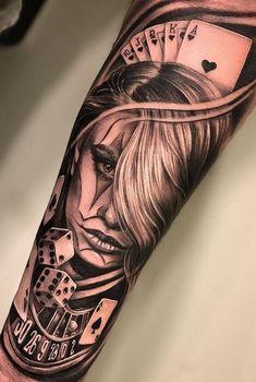 No photo description available. Chicanas Tattoo, Forarm Tattoos, Forearm Sleeve Tattoos, Best Sleeve Tattoos, Tattoo Sleeve Designs, Leg Tattoos, Body Art Tattoos, Clown Tattoo, Chicano Style Tattoo