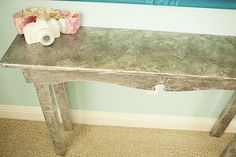 Tin Foil Table [Decoupage] ~ Be Different...Act Normal