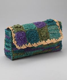 Purple Patchwork clutch