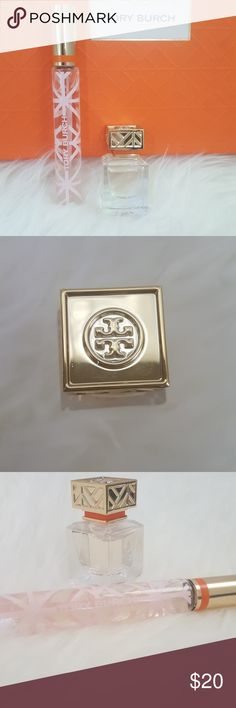 Tory Burch perfume bundle rollerball + travel size The first fragrance from Tory Burch.  Notes of floral peony and tuberose, crisp grapefruit and neroli and earthy vetiver.  🎖 Top rated seller 📦 Fast shipper Tory Burch Makeup