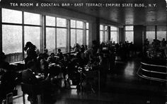 #TBT: The Empire State Building used to have a Tea Room on the 86th floor — a perfect spot for those cold New York City winter days.