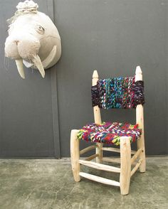 Handmade Bohemian Child's Chair