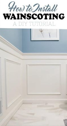 Home Interior Cuadros Installing wainscoting adds an elegance to a room you can't get any other way. DIY project tutorial for classic box wainscoting. Installing Wainscoting, Dining Room Wainscoting, Wainscoting Styles, Wainscoting Panels, Dining Room Walls, Painted Wainscoting, Black Wainscoting, Wainscoting Nursery, Dining Room Paneling