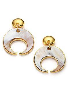 Nest Brushed Golden Hoop Drop Earrings 2XSfRs