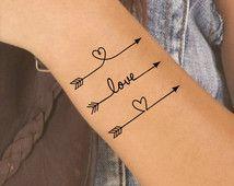 Temporary Tattoo 3 Arrow Fake Tattoo Thin Durable Waterproof
