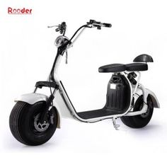 Rooder Citycoco harley Electric Fashion Fat Tire Scooter Razor Scooter 60V 1000W with Removable Lithium Battery