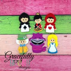 Alice Finger Puppet Embroidery Design - 4x4 Hoop or Larger