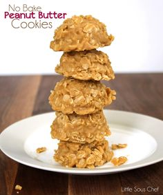 No Bake Peanut Butter Cookies. So easy and so much better than no bake chocolate cookies!