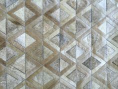 LIFESTYLE by Cara - Adrogue cowhide patchwork rug - taupe + grey brown
