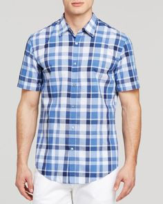 Boss Hugo Boss Marco Houndstooth Check Button Down Shirt - Slim Fit