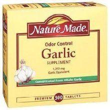 Nature Made Odor Control Garlic 1250 Mg Garlic Equivalent - 300 Tablets from Nature Made at the Crack Heel - £12.05 - http://crackheel.com/nature-made-odor-control-garlic-1250-mg-garlic-equivalent-300-tablets/