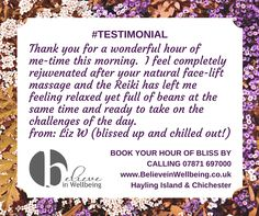 Book in with me for massage, Reiki and homeopathy in Chichester and Hayling Island. www.BelieveinWellbeing.co.uk Holistic Massage, Chichester, Homeopathy, Massage Therapy, Reiki, No Time For Me, Island, Feelings, Book