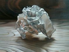 This is part of my crumpled series. Since starting them over 2 years ago I have just revised them.  Oil on canvas They image I use are from photos I have taken.