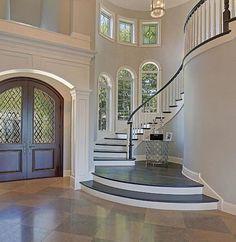 Top 80 besten Foyer Ideen – einzigartige Home Entryway Designs – 2019 - House ideas Foyer Design, Entry Way Design, Staircase Design, Staircase Ideas, Hallway Ideas, Dream House Interior, Dream Home Design, My Dream Home, Home Interior Design