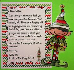 Dear Santa, I can explain - told from the villain's point of view.  Runde's Room: writing