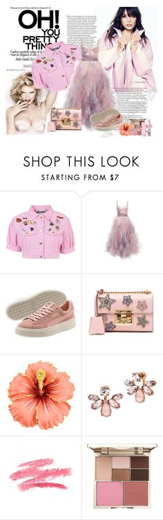 """Pretty Thing"" by xesthetics ❤ liked on Polyvore featuring Moschino, Marchesa, Gucci and Stila"