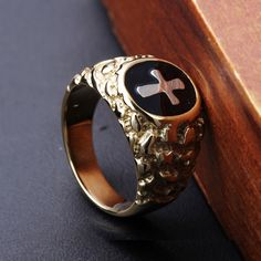 Stainless Steel Cross Male rings  Lead Free Big size Men Party Rings  US SIZE: 8,9,10,11,12,13
