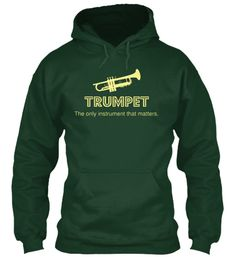 Show your TRUMPET pride with this expressive hoodie! Great for middle school/high school/college bands! ***Each item is printed on super soft premium material! 100% Designed, Shipped, and Printed in t