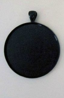Black Picture Jewelry Circle Setting 1 1/2 Inch
