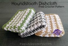 The houndstooth stitch is so full of texture and interest.  I love this stitch and the design makes for a stylish dishcloth.  These are simple and fun to make! Here we go…
