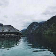 Incredible place  #latergram #alps #lake #königssee #mountains #fog #sky #barn #nature #hiking #bavaria #berchtesgaden #germany #travel