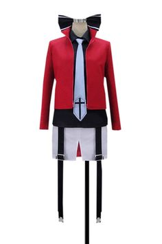 Dreamcosplay Anime Mondaiji Leticia Draculair Uniform Outfits Cosplay Costume * Check this awesome product by going to the link at the image.