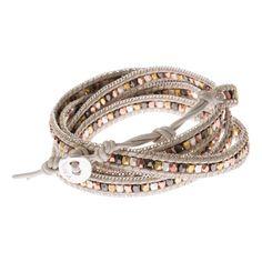 Bracelet wrap argent et or